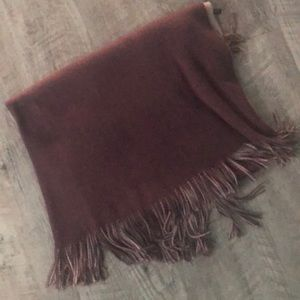 Accessories - BLUSH MAUVE Poncho Wrap Scarf